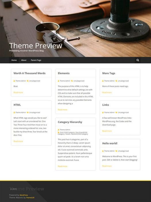 Masonic WordPress Theme (Custom)