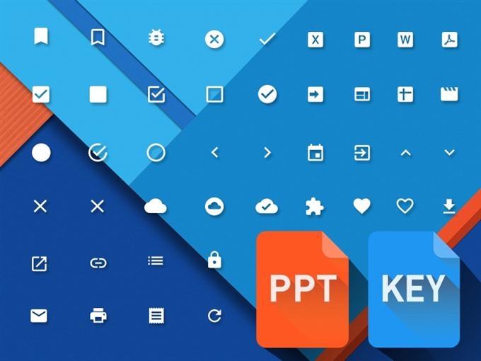 Material Design Powerpoint & Keynote icons (Custom)