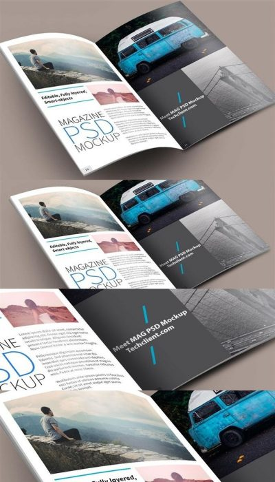 Meet MAG PSD Mockup (Custom)