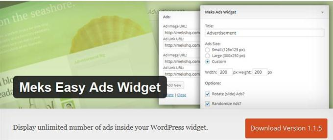 Meks Easy Ads Widget (Custom)