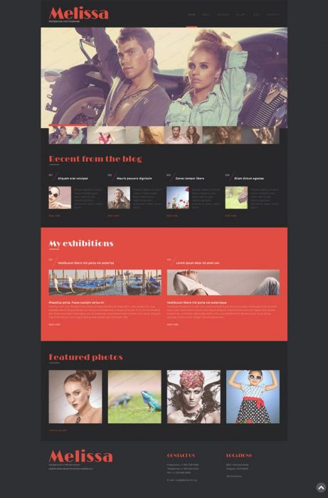 Melissa Free WordPress Photography Theme (Custom)
