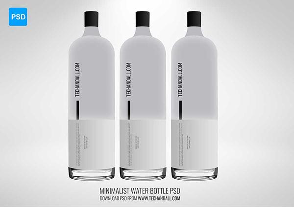 Minimalist Water Bottle Mockup (Custom)