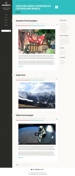 Moments clean responsive theme (Custom)