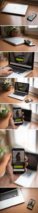 Moto G and Macbook Pro Photo MockUps (Custom)