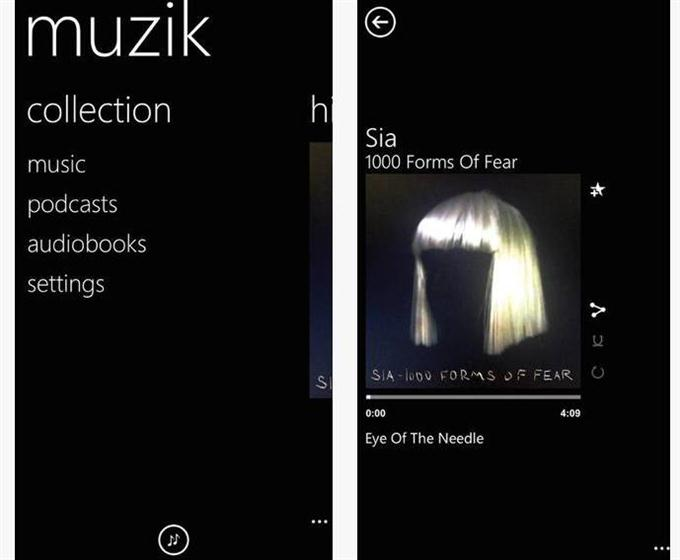 Muzik  A Metro Music Player (Custom)