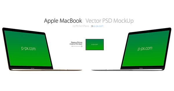 New MacBook Vector MockUp (Custom)
