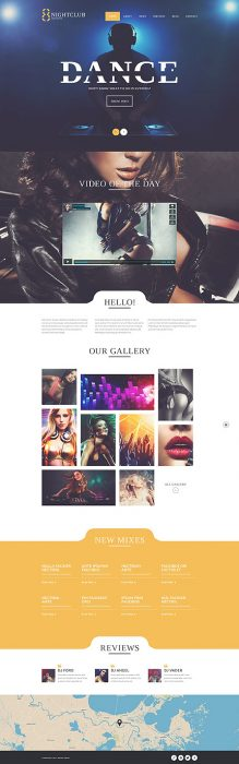 Nightclub Responsive WordPress Site