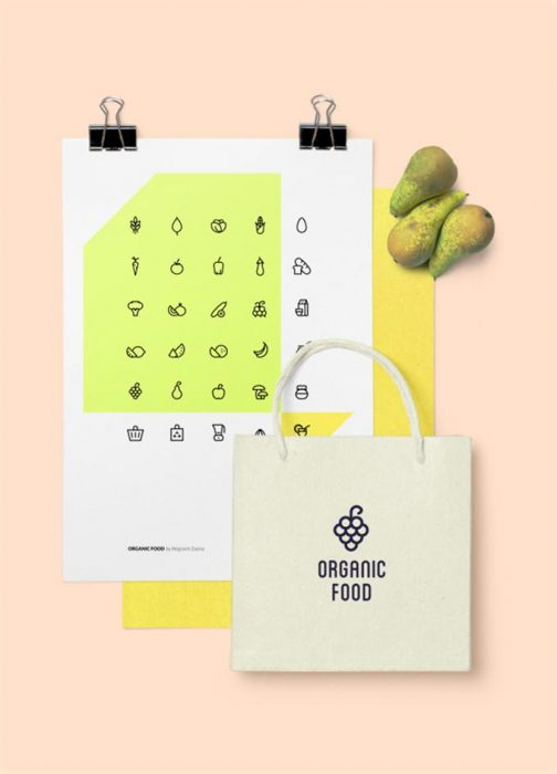 Organic Food – Free Icon Set (Custom)