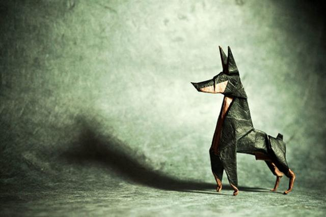 Origami Doberman by Ares Alanya (Custom)