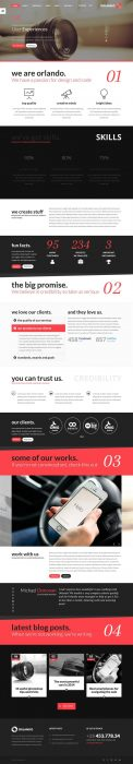 Orlando - Creative Infographics WordPress Theme (Custom)