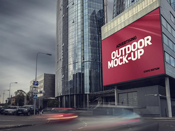 Outdoor Advertising Mock-up (Custom)