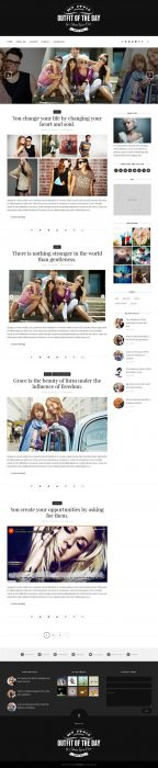Outfit Clean & Responsive Blogger Template (Custom)