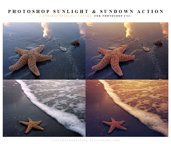 PHOTOSHOP ACTIONS SUNLIGHT AND SUNDOWN (Custom)