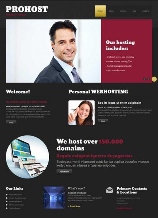 PROHOST Hosting Responsive WordPress Theme (Custom)