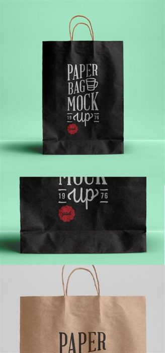 PSD Paper Bag Mockup Template (Custom)