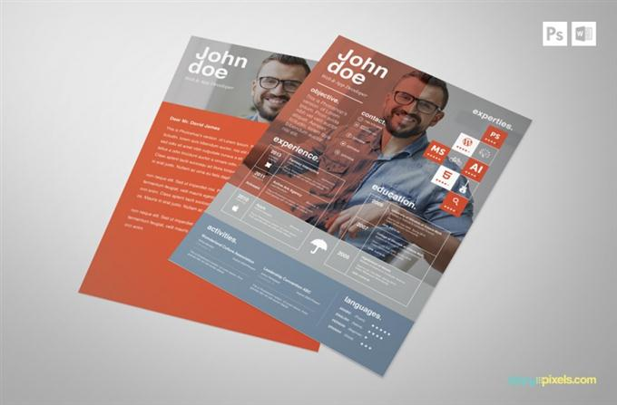 PSD Resume & Cover Letter Template (Custom)