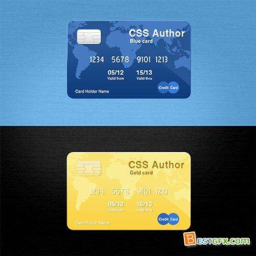 PSD Source - Awesome Credit Card (Custom)