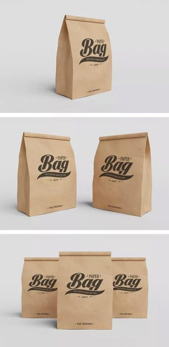 Paper Bag PSD Mockups (Custom)