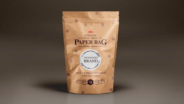 Paper Bag Packaging Mockup PSD (Custom)