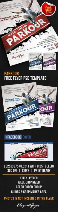 Parkour – Free Flyer PSD Template + Facebook Cover (Custom)