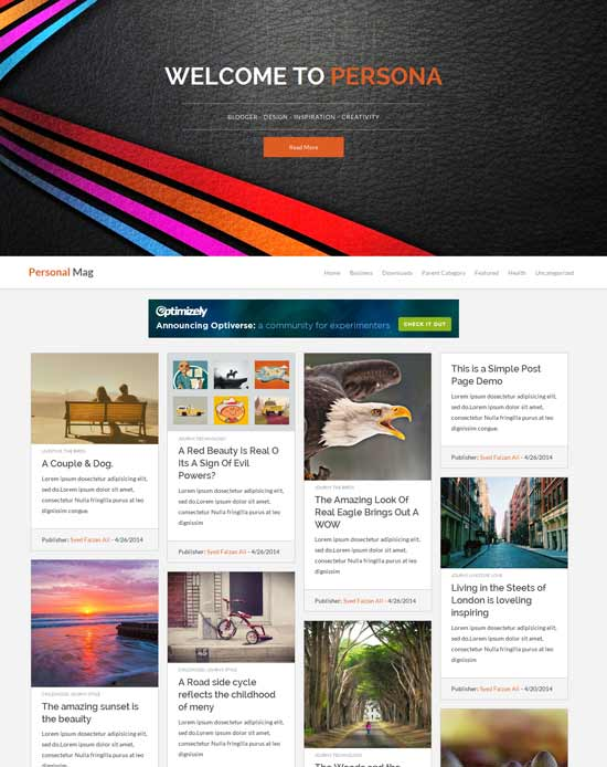 Personal Mag - responsive Blogger
