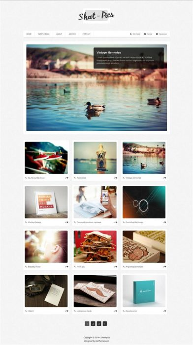 Photography Shoot pics Blogger Template (Custom)