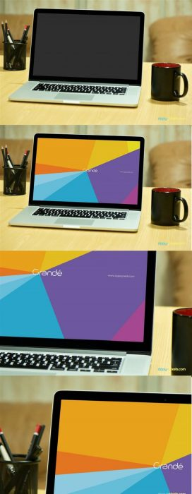 Photorealistic Device Mockup of Macbook Pro (Custom)