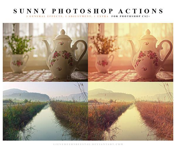 Photoshop Actions Sunny (Custom)