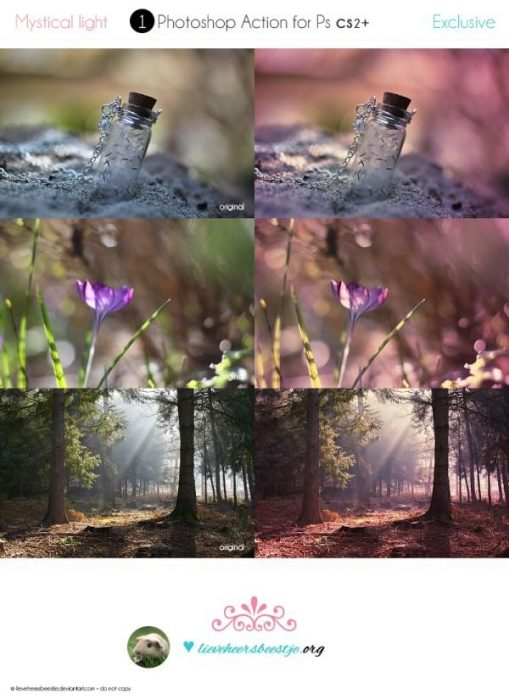 Photoshop Mystical Light Actions (Custom)