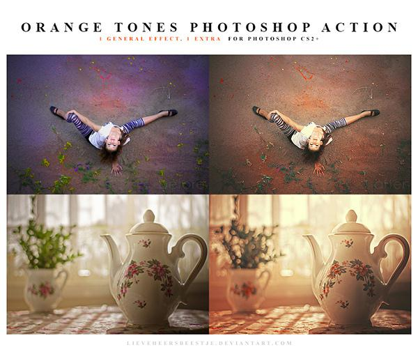 Photoshop Orange Tones Action (Custom)