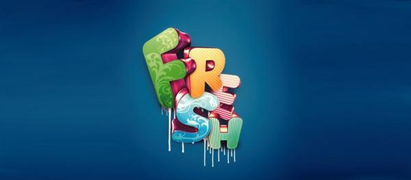 Photoshop tutorial Master 3D type effects (Custom)