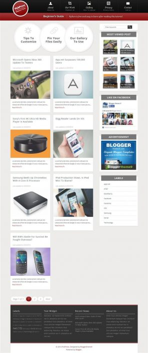 PickPress Responsive Personal Blog Blogger Template (Custom)