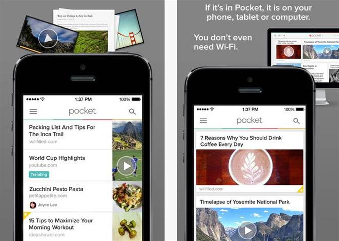 Pocket Save Articles and Videos to View Later (Custom)