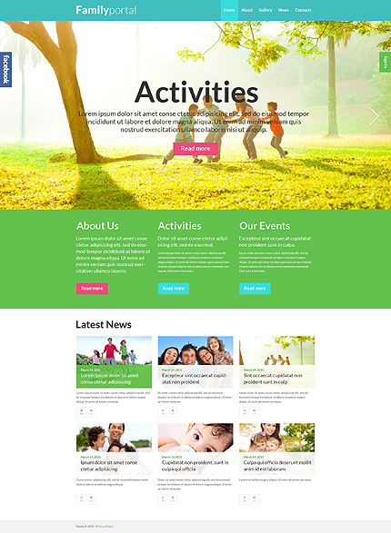 Portal of Happy Family WordPress