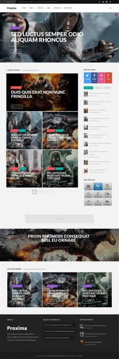 34 Best Free Gaming Responsive Blogger Templates - TechClient