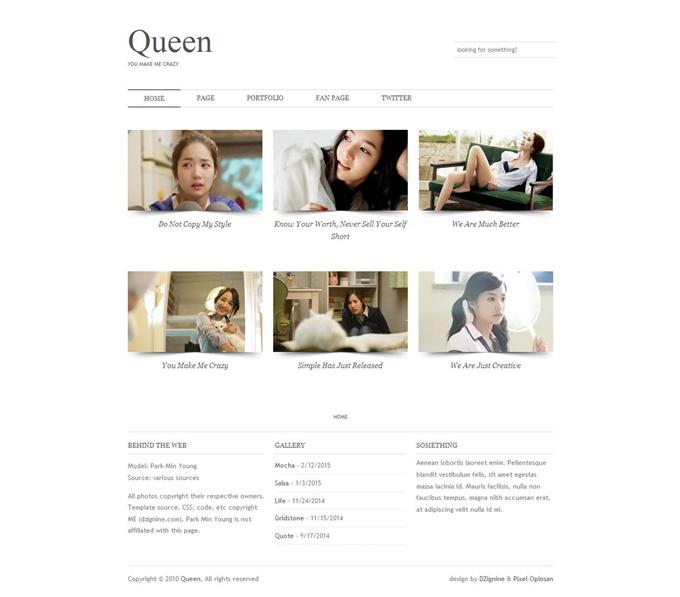 Queen Blogger Template (Custom)