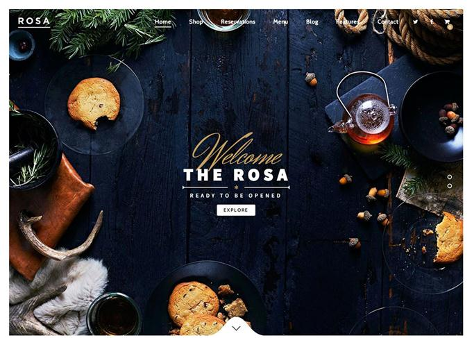 ROSA - An Exquisite Restaurant WordPress Theme (Custom)