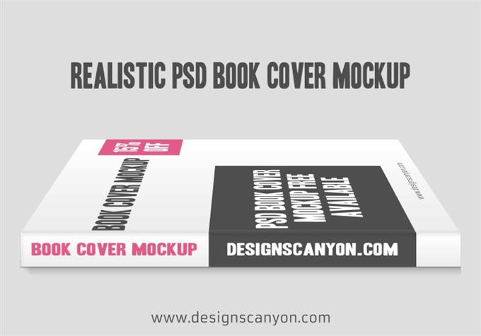 Realistic PSD Book Cover Mock-up Design (Custom)