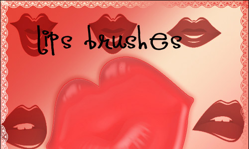 Red Lip Brushes