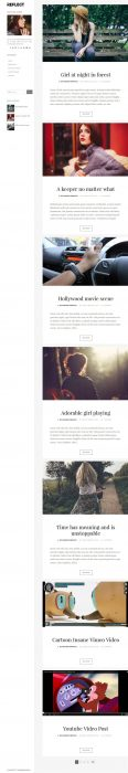Reflect Photography Blogger Template (Custom)