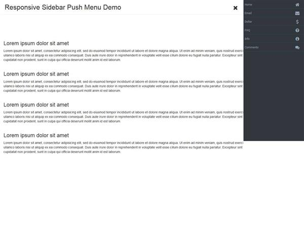 Responsive Sidebar Push Menu with jQuery and CSS3 (Custom)