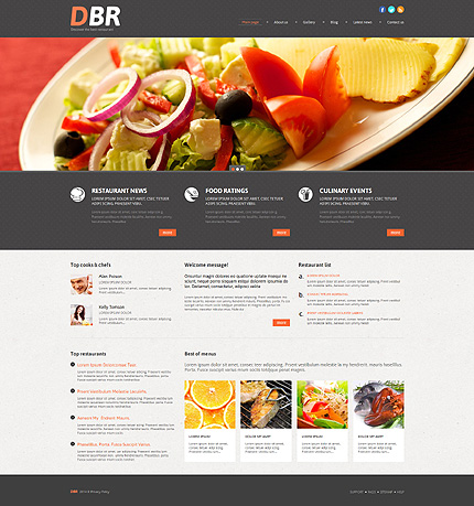 Restaurant & Cafeteria WordPress Website Design