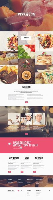Restaurant Responsive WordPress Site