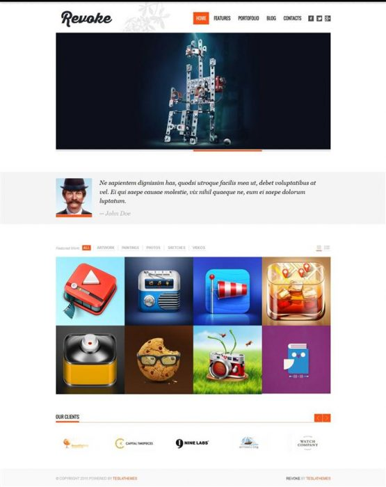 Revoke – Responsive WordPress Theme (Custom)