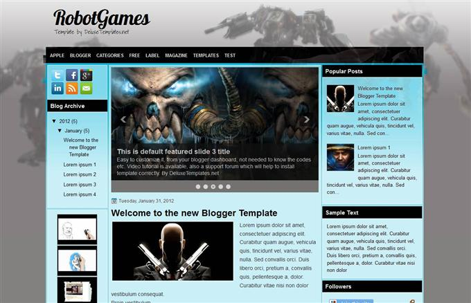 Robot Games Blogger Template (Custom)