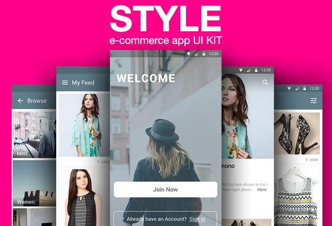 STYLE e-commerce app UI KIT (Custom)