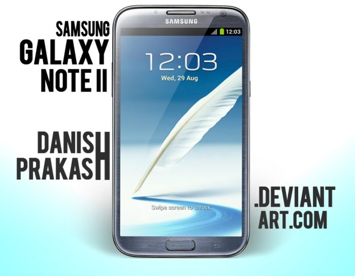 Samsung Galaxy Note II [Blue] [psd]