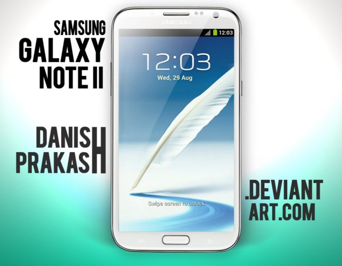 Samsung Galaxy Note II [White] [psd]