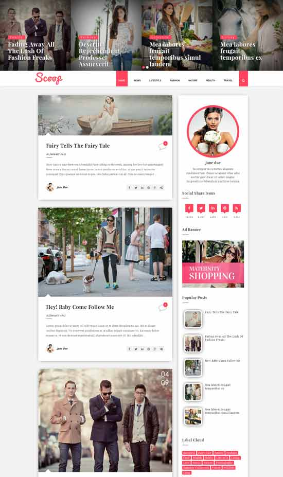 Scoop Multipurpose Blogger Template
