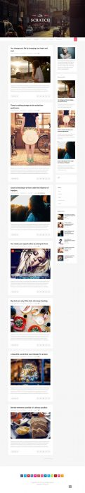 Scratch Clean and Responsive Blogger Template (Custom)